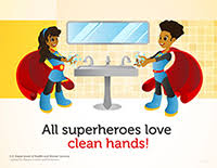 kids washing hands poster. Modren Kids Superhero Poster Featuring A Boy And Girl With Africanamerican Features Inside Kids Washing Hands Poster Y