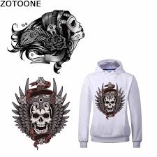 ZOTOONE <b>Punk Skull</b> Tiger <b>Patch</b> Animal <b>Diy Patch</b> Heat Transfers ...