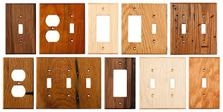 wood wall plates an assortment of our wood wall plates wood switch plates and electrical