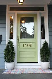boothbay blue har plank siding and great green front door by sherwin williams full glass front