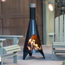 large clay chiminea outdoor fireplace fireplaces electric home depot