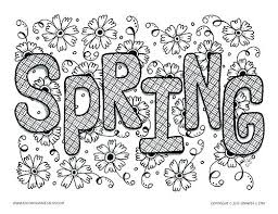 Printable Coloring Sheets For Spring Spring Coloring Pages
