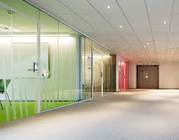 colorful office space interior design. Home Office : Colorful Interior Glass Design With Large Partitions Excerpt Contemporary Modern Small Business Designing Space Open Startup Medical I