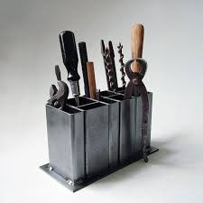 steel desk organizer by citizejects on