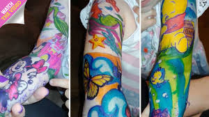 Girl Three Who Is Battling Cancer Gets Disney Tattoo Sleeves