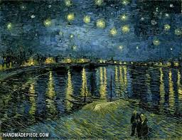 starry night over the rhone oil painting
