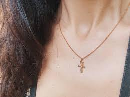 ankh key of life necklace gold