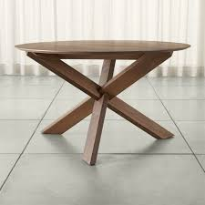 apex 51 round dining table in tables reviews crate and pertaining to wood prepare 6