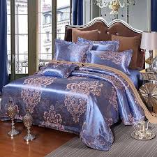 purple and gold bedding sets luxury cotton embroidery satin silk luxury jacquard bedding set pink gold