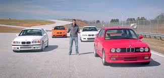 All Four M3 Generations (E30, E36, E46, E90) At The Track