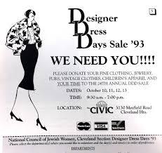 Fashion Designer Advertisement 50th Designer Dress Days Sale Celebrates Fashion Charity