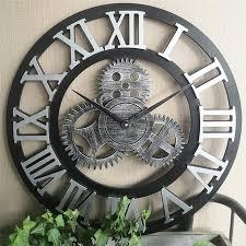 luxury wall clock industrial gear wall