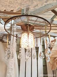 repurposed lighting. Repurposed Lighting With Bicycle Wheels (2) A