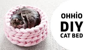 diy how to make a cat bed with ohhio braid new