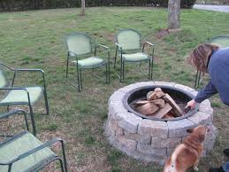 interesting landcape design with exciting fire pit kit and outdoor furniture