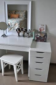 make up desk mesmerizing white makeup desks beautiful 5 drawers and charming mirror plus white stool make up desk