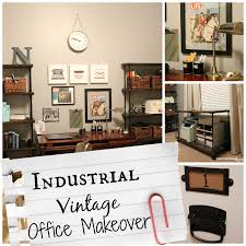 vintage office ideas. Industrial Vintage Office Make Over Well Groomed Home Ideas