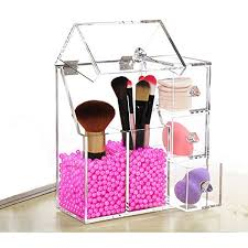 FLYMEI Dust Free Acrylic Makeup Organizer With Free Glossy Rosy Pearl, Cosmetic  Storage for Makeup