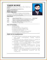 Sample Resume For Teacher Job Fresher Teaching In India Higher
