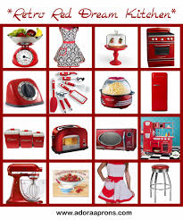 top 81 superb retro kitchen accessories ideas vintage liances red
