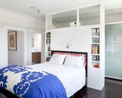 Example of a trendy bedroom design in San Francisco with white walls