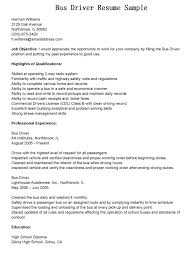 Bus Driver Resume Template Ideas Of Sample Cover Letter For Bus