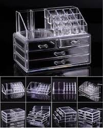 Cosmetic organizer makeup drawers Display Box Acrylic Clear Cabinet Case  Set | Makeup drawer, Display boxes and Clear acrylic