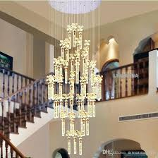 led modern crystal chandelier bubble bar chandeliers lights fixture big long stair hanging home indoor lighting lamps bedroom staircase fixtures s