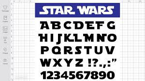 The film series made such great success that it is the third highest grossing film series the star wars logo lettering is very similar to a font named starjedi created by boba fonts, which is free to use and you can download it for free here. Star Wars Font Svg Free Star Wars Svg Free Alphabet Svg Death Star Svg R2d2 Svg Star Wars Font Svg Cutting Files Dxf Instand Download 0034 Freesvgplanet