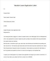 Application Letter For Vacation Leave Magdalene Project Org