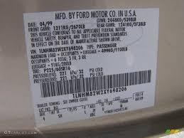 1999 Town Car Color Code Bq For Light Parchment Gold