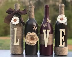 Home Decor With Wine Bottles Wine bottle decor Etsy 52