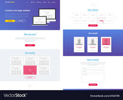 Free Design Templates One Page Website Design Template