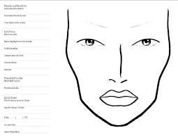face makeup template printable chart of