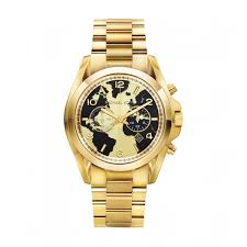 michael kors map chronograph watch with date
