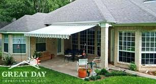 deck awning diy retractable awning ideas pictures designs great day improvements backyard awning ideas retractable awning