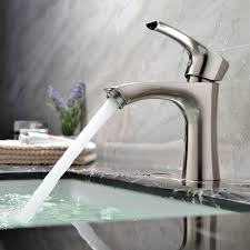 stainless steel bathroom faucets. KINGO HOME Contemporary Stainless Steel Single Hole Lavatory Handle Brushed Nickel Bathroom Faucet,Hot Faucets I