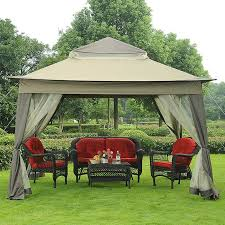 outdoor patio tents. While This Gazebo Is Typically Open, The Screen Or Shades Can Be Drawn If Privacy Outdoor Patio Tents