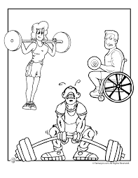 Olympic And Paralympic Weight Lifters Coloring Page Woo Jr Kids