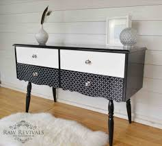 stenciling furniture ideas. White Stenciled Sideboard Dressing Table Repurposed Furniture Ideas Recycled Old Chair Projects Diy Stenciling