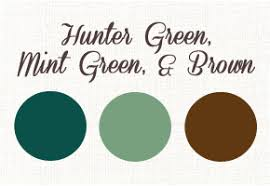 Hunter green weddings with brown and mint green