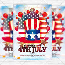 4th Of July Premium Flyer Template Instagram Size Flyer