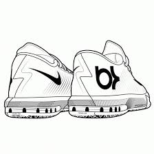 Cute Basketball Shoes Drawing Jordan Shoes Coloring Pages Printable