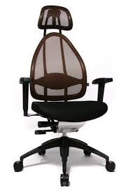 ergonomic office chair in black and red finish aspera 10 executive office nappa leather brown