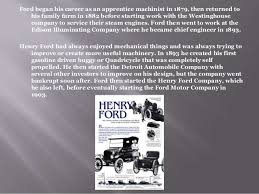 henry ford biography 4 the ford