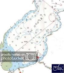 Depth Chart For Cooks Bay Cooks Bay Fishing Board
