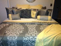 my yellow and gray bedding solid duvet cover king queen bright
