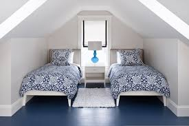 2017 Minimalist Contemporary Attic Bedroom With Double Beds (Image 1 of 23)