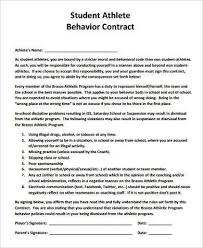 Student Agreement Contract Sample Behavior Contract | kicksneakers.co