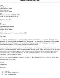 sample cover letter for database administrator position job database administrator cover letter